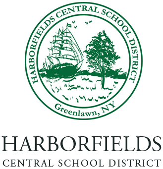 Harborfields Union Free School District Logo on the Footer